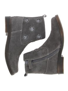 Girls' leather boots DFBOOTMYL / 18WK35TDD0D940
