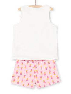 Pijama cru e rosa menina LEFAPYJPIN / 21SH11C9PYJ001