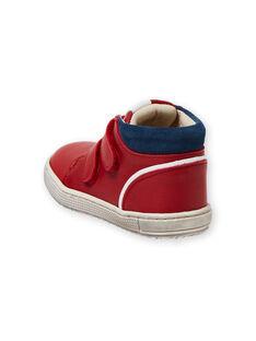 Sapatilhas vermelho e azul-marinho bebé menino LBGBASRED / 21KK3831D3F050