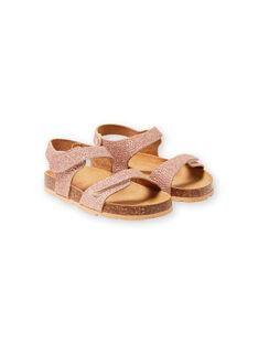 Sandálias dourado rosa menina LFNUGOLD / 21KK3556D0EK009
