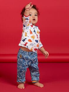Calças azuis estampado dinossauro bebé menino LUCANPAN2 / 21SG10M2PANP272