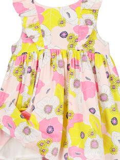 Vestido em cetim de algodão bebé menina FIPOROB2 / 19SG09C2ROB099