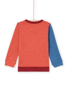 T-shirt vermelho e azul-marinho menino MOPATEE3 / 21W902H1TML719