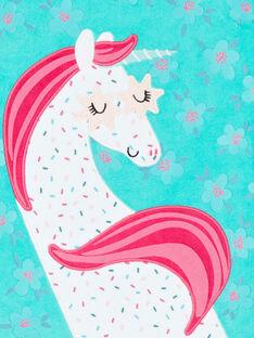 Pijama criança menina turquesa padrão unicórnio LEFAPYJLIC / 21SH1153PYJ209