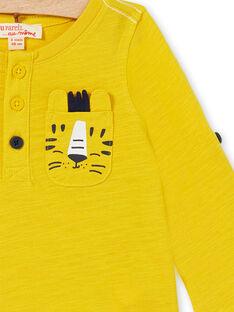 T-shirt amarela bebé menino LUJOTUN3 / 21SG1036TML106