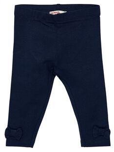 Leggings azul-marinho bebé menina com laços pequenos JYIESLEG1 / 20SI0962D26070