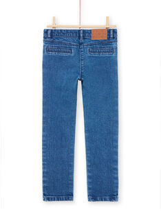 Calças de ganga azuis com padrões corações menina MAMIXJEAN / 21W901J1JEAP269