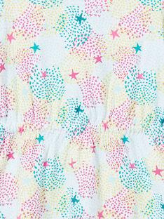 Camisa de dormir criança menina em jersey estampado multicor LEFACHUSTA / 21SH1153CHN000