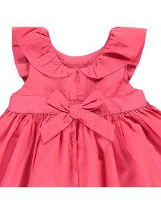 Baby girls' short-sleeved dress CIFRIROB2 / 18SG09H1ROBD312