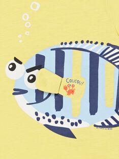 T-shirt amarela com animação 3D - Criança Menino LONAUTI2 / 21S902P3TMCB102