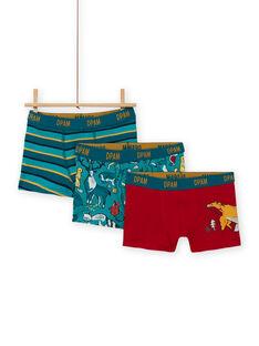 Pack de 3 boxers a condizer padrões dinossauros menino MEGOBOXCANA / 21WH12C1BOX714