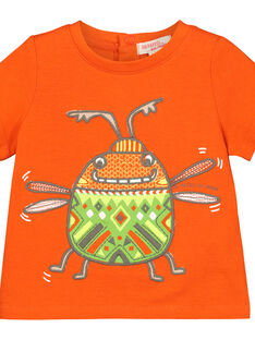 T-shirt de mangas curtas bebé menino FUYETI1 / 19SG10M1TMC400