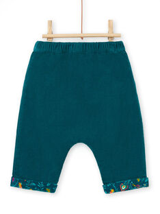 Calças reversíveis azul-pato bebé menina MITUPAN / 21WG09K1PAN714