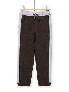 Calças de fato de treino antracite e cinzento mesclado menino MOJOJOB2 / 21W90212JGB944