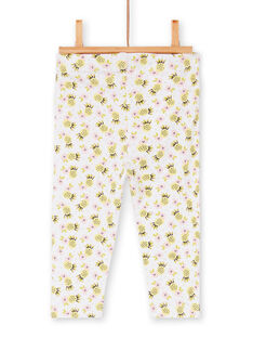 Leggings brancas, amarela e rosa bebé menina LYIBALEG / 21SI09O1CAL000