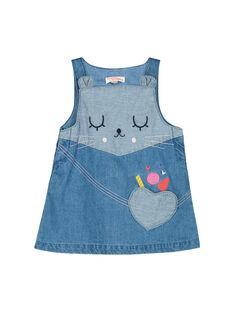 Vestido de ganga bebé menina FICOROB2 / 19SG0982ROB704