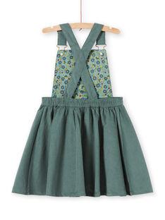 Vestido jardineiras caqui menina MAKAROB4 / 21W901I4ROB626