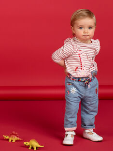 Calças de ganga bebé menina com cinto LICANPAN / 21SG09M1PANP272