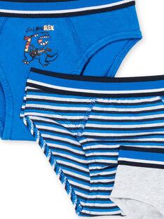 Lote de 3 cuecas criança menino azul e cinzento mesclado LEGOSLIBLUE / 21SH1222D5LC231