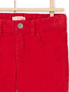 Calças vermelho em veludo menino MOJOPAVEL3 / 21W90212PANF508