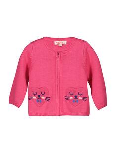 Casaco de malha zip bebé menina FICOCAR2 / 19SG0982CAR030