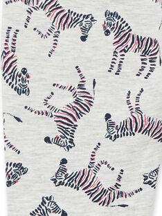 Jeggings cinzento mesclado e azul com estampado zebras em moletão LAJOPANT3 / 21S90132D2B006