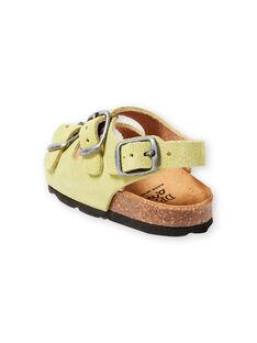 Sandálias lisas verde pálido bebé menino LBGNUVERT / 21KK3853D0E602