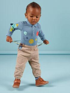 Calças aos quadrados e suspensórios às riscas bebé menino MUPLAPAN2 / 21WG10O2PAN817