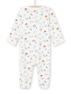 Babygro cru com estampado decorativo all-over recém-nascido unissexo MOU1GRE5 / 21WF0542GRE001