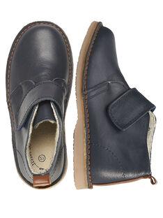 Boots couro azul-marinho criança menino GGBOOTVITAL / 19WK36X1D0D070
