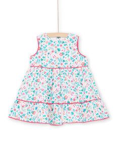 Vestido branco e azul bebé menina LIBONROB2 / 21SG09W1ROB000