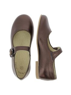 Girls' iridescent leather Mary-Janes DFBABSOFI2 / 18WK35T3D13802