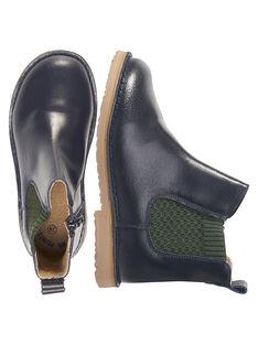Boots chelsea couro azul-marinho criança menino GGBOOTCHEB / 19WK36X5D0D070