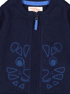 Casaco com zip azul-marinho bebé menino FUJOGIL2 / 19SG1032GIL713