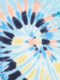 T-shirt mangas curtas azul criança menino LOBONTI1 / 21S902W2TMCC201