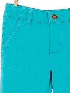 Calças azuis em algodão criança menino LOJOPACHI3 / 21S90236PANC215
