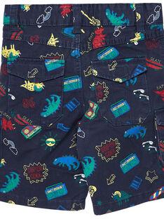 Bermudas cargo menino com estampado dinossauros e música  JOGRABER2 / 20S902E2BER705