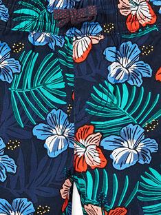 Bermudas azul-marinho estampado florido criança menino LOBONBER3 / 21S902W2BER705