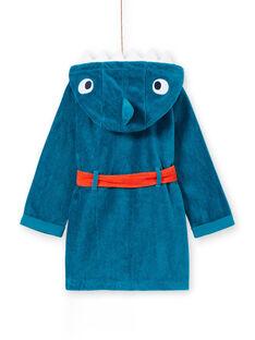 Roupão criança menino em esponja turquesa padrão tubarão LEGOPEIREQ / 21SH1251RDCC217