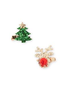 Lote de 2 ganchos de Natal a condizer menina MYANOCLIC3 / 21WI01T7BRTK008