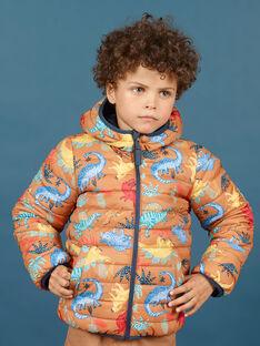 Blusão com capuz acolchoado e reversível menino MOGROBLOU1 / 21W90254BLO804