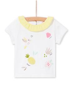 T-shirt branca e amarela bebé menina LIBALBRA / 21SG09O1BRA000