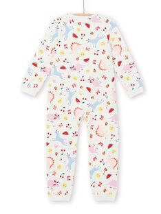 Pijama criança menina em moletão estampado decorativo LEFACOMBDI / 21SH1111D4F001