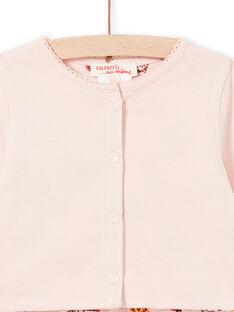 Casaco de malha rosa reversível bebé menina LITERCAR / 21SG09V1CARD322