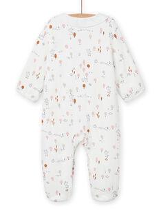 Babygro cru com folhos estampado decorativo recém-nascido unissexo MOU1GRE2 / 21WF0341GRE001