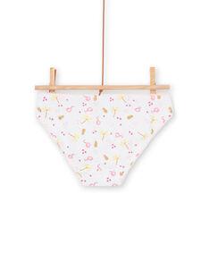 Lote de 3 cuecas rosa e amarelo criança menina LEFALOTJAU / 21SH11G1D5L000