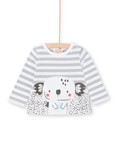 Tee-shirt mangas compridas às riscas bebé menino LUPOETEE1 / 21SG10Y3TML001