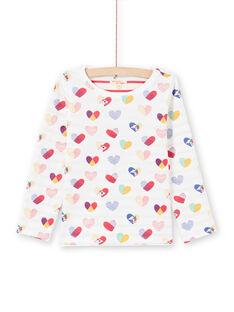 T-shirt reversível cru e vermelho menina MAMIXTEE2 / 21W901J4TML001