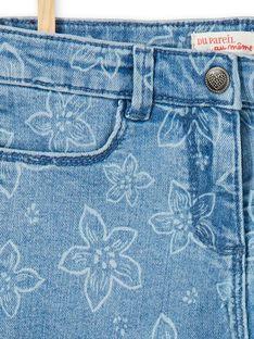 Calções com 5 bolsos estampado florido LAJOSHORT2 / 21S90142D30P272