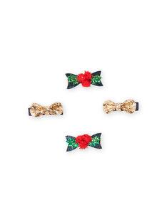 Lote de 4 ganchos de Natal a condizer menina MYANOCLIC1 / 21WI01T8BRT955
